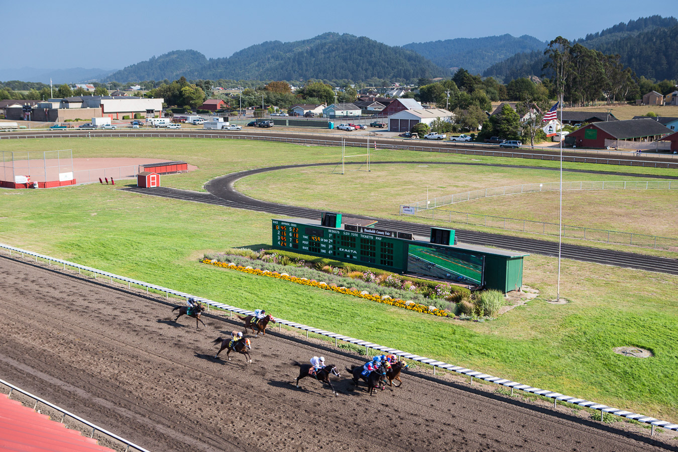 banner image is of Ferndale, CA Race Horse Track