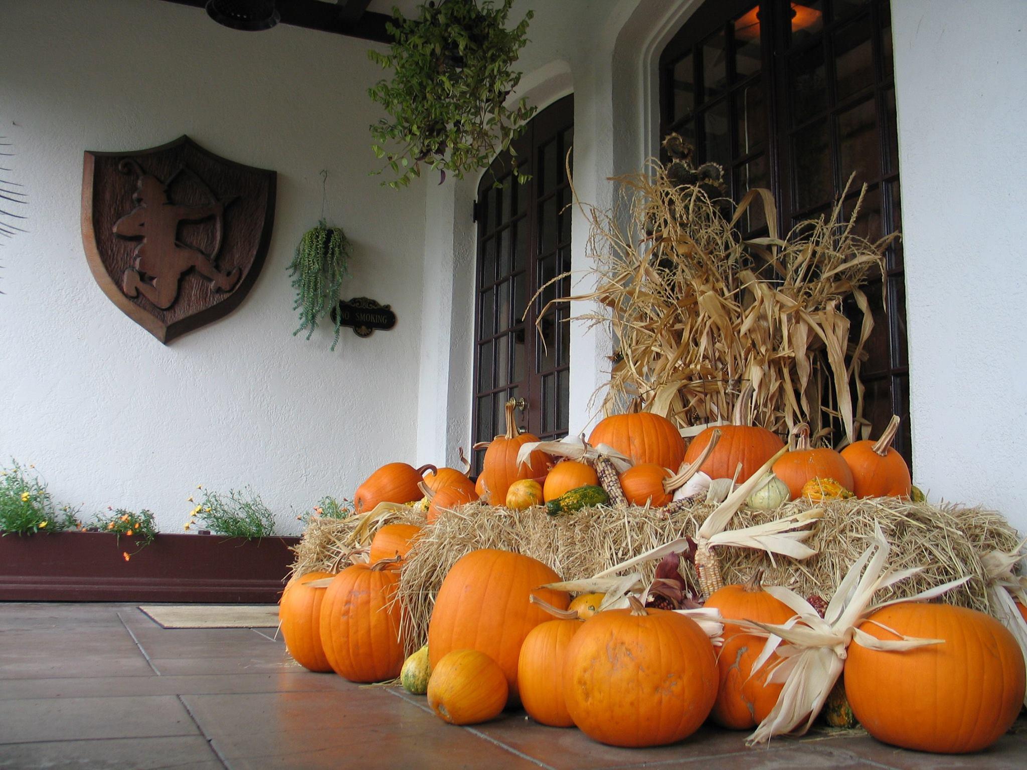 Benbow Historic Inn Autumn season pumpkins