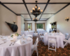 The Bellows Room with wedding banquet table setup