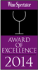 Benbow was awarded the Wine Spectator Award 2014