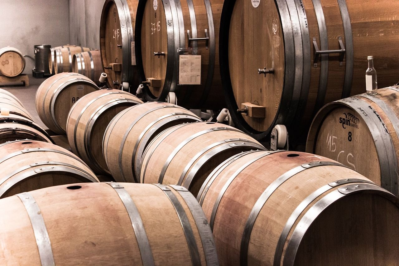 banner image is of A cellar of wine barrels