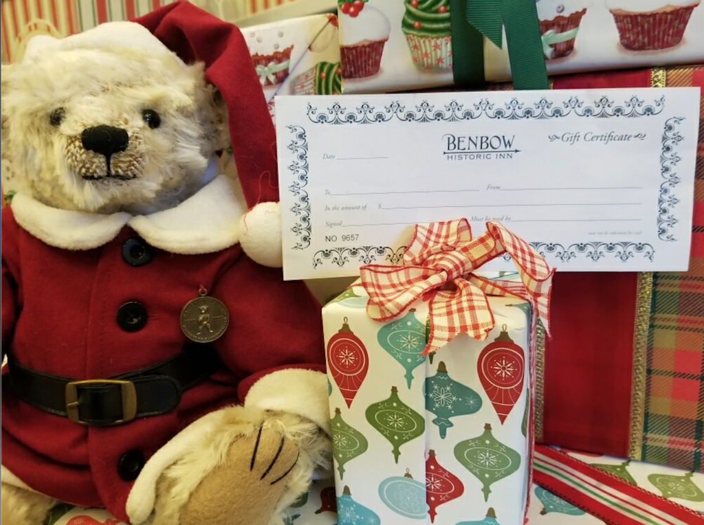 Image to show the Benbow Gift Certificates